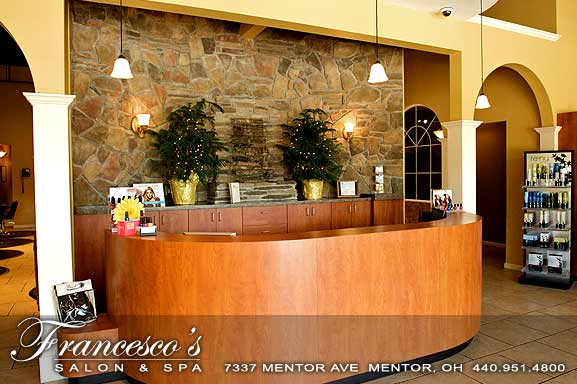 Lobby of Francescos Salon and Spa